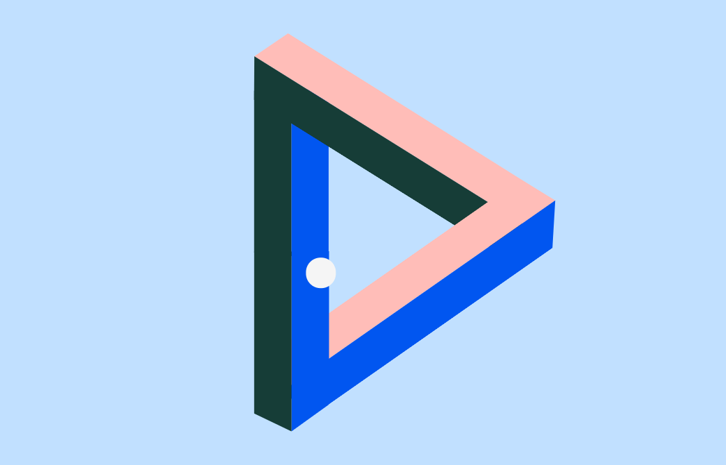 3D Penrose Triangle Using HTML And CSS