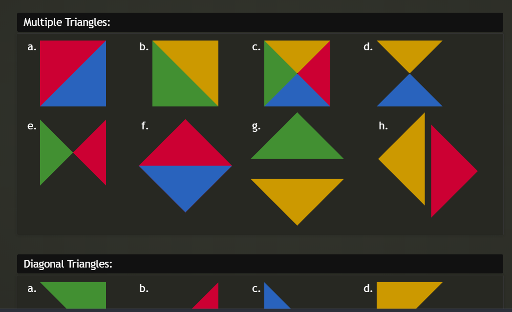 CSS Arrows Triangles Combinations Example