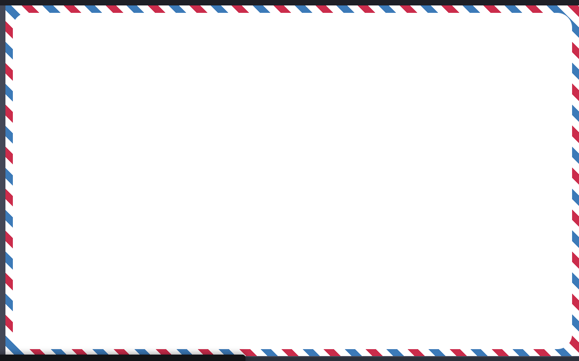 Mail Border Ribbon with HTML And CSS