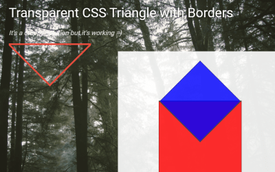 Transparent CSS Triangle Design with Borders