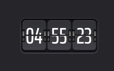 Digital Clock Design with Flip Effect