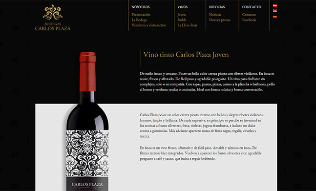 Wine Cellar Website Designed By Pepe Pro