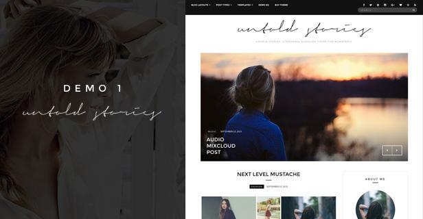 Fashion Blog Theme - Untold Stories 3