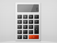 Calculator Icon PSD