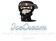 Simple and Lightweight Responsive Grid System - IceCream