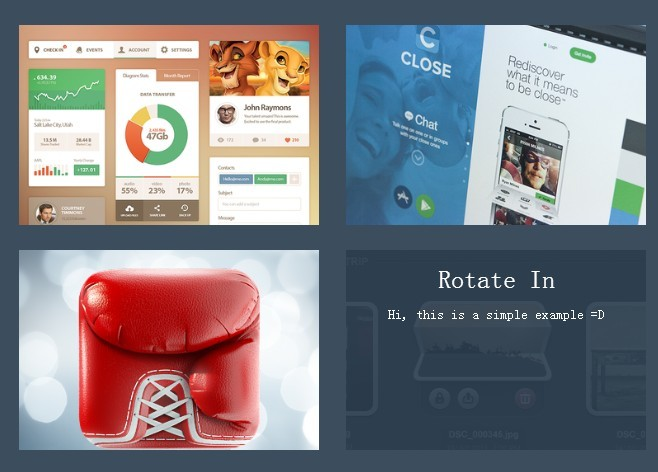 Animated Image Grid with CSS3 Based Hover Caption Effects – InContent