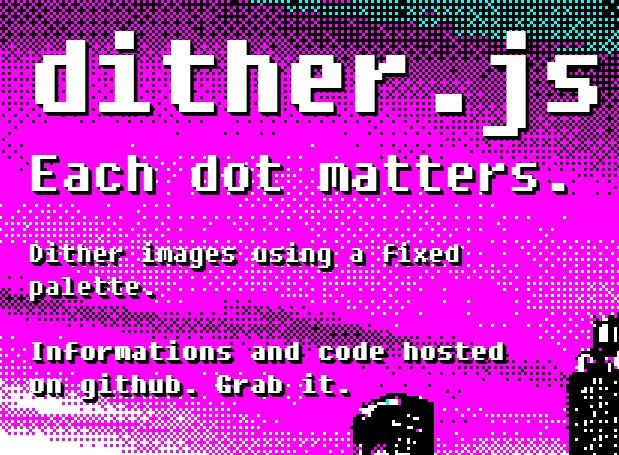 Javascript To Pixelate Images Using A Fixed Palette – ditherjs