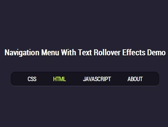 Creating A Navigation Menu with Text Rollover Effects