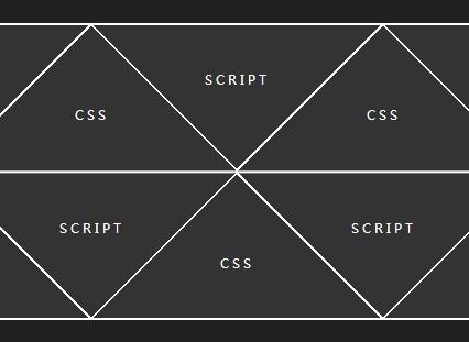 Pure CSS Responsive Triangle/Diamond Grid Layout   CSS Script