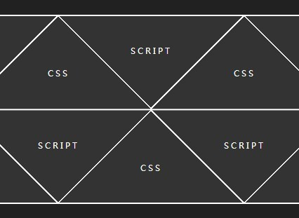 Pure CSS Responsive Triangle Diamond Grid Layout