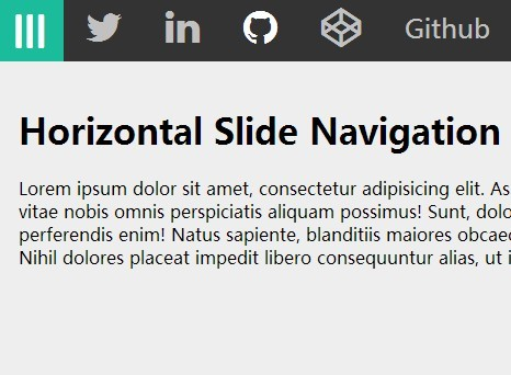 Horizontal Slide Navigation Menu with Pure CSS/CSS3 | CSS Script