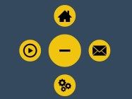 Pure CSS Circle Menu with CSS3 Transitions & Transforms