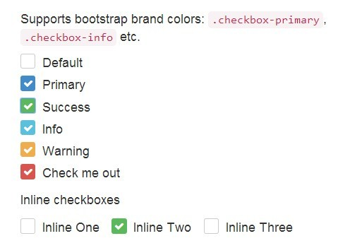 Pretty Checkbox & Radio Inputs with Bootstrap and awesome-bootstrap