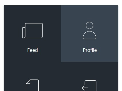 Pure CSS/CSS3 Morphing Square Menu