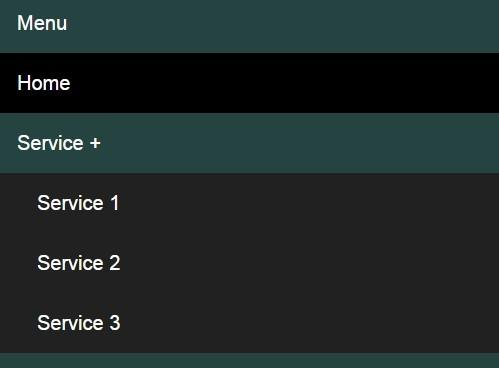 Pure CSS Mobile-compatible Responsive Dropdown Menu