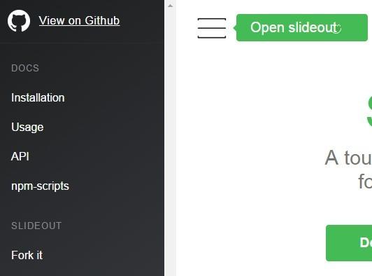 Simple Off-canvas Push Menu with Pure JavaScript – Slideout.js