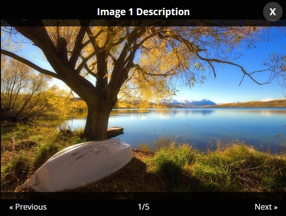 Vanilla JavaScript Library For Photo Gallery Lightbox – PhotoViewerJS