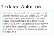 Textarea-Autogrow
