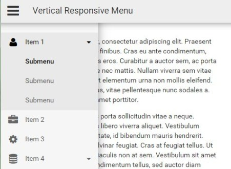 Responsive Sidebar Navigation with JavaScript and CSS3