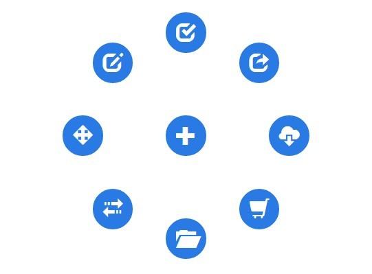 Lightweight JavaScript Round Menu Library - radial js | CSS