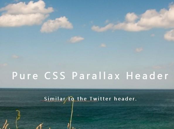 Twitter-like Header Parallax Effect Using Pure CSS / CSS3