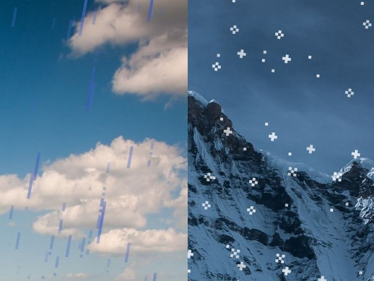 Create Rain & Snow Falling Effects using CSS3 – weather.css