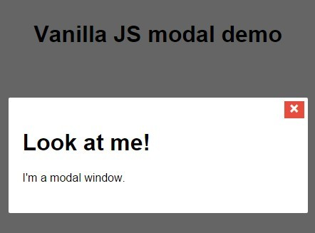 Responsive Animated Modal Window with Pure JavaScript