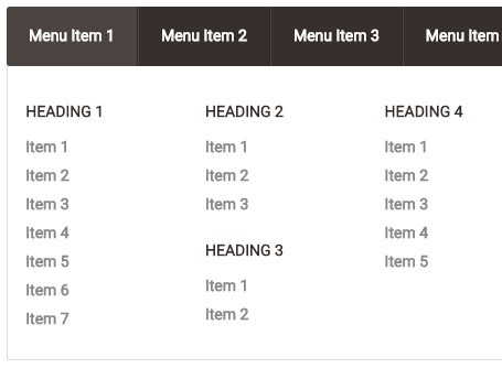 Creating A Simple Mega Menu with Pure HTML / CSS