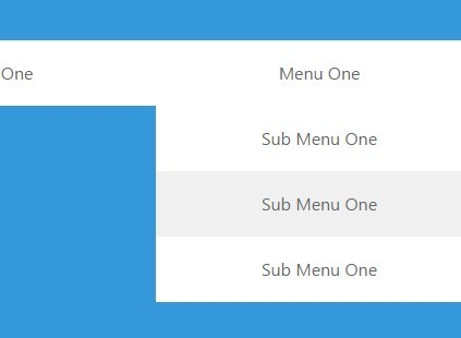 Super Flat Multilevel Dropdown Menu with Pure CSS