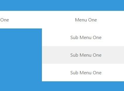 Super Flat Multilevel Dropdown Menu with Pure CSS