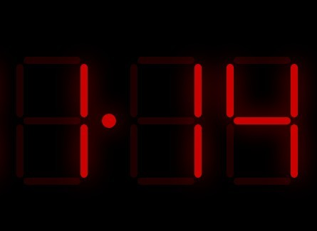 Animated Digital LED Clock with JavaScript and CSS