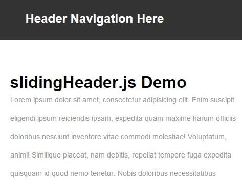 Auto Show / Hide Sliding Header with Pure JavaScript – slidingHeader.js
