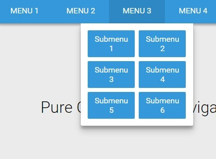 Material Style Responsive Dropdown Navigation with Pure CSS