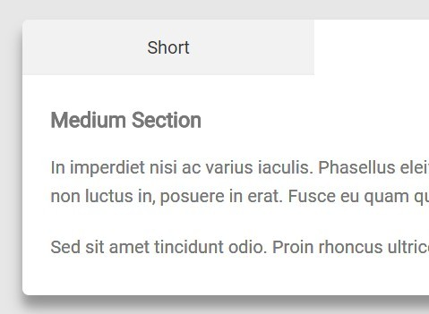Pure CSS Tabs Component with Transitions Between Variable Heights