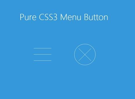 Pure CSS3 Animated Hamburger Toggle