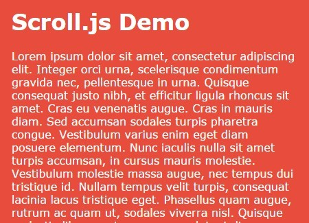 Lightweight JavaScript Library For Inertial Scrolling Effect – Scroll.js