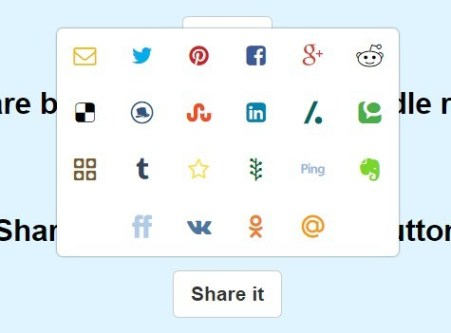 Create Social Share Popup Box with Pure JavaScript – needShareButton
