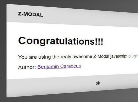 Lightweight Modal & Dialog JavaScript Library – Z-MODAL