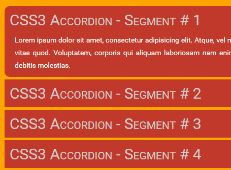 Super Smooth Accordion with Pure CSS / CSS3