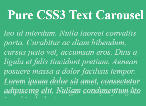 CSS Only Text Carousel / Rotator
