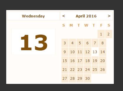 Minimal Vanilla JavaScript Calendar Component