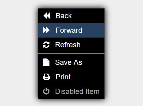 Lightweight Context Menu JavaScript Library – justContext.js