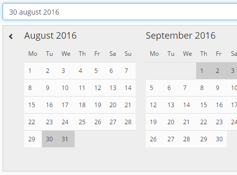 Simple Pure JavaScript Date Range Picker – tripPicker