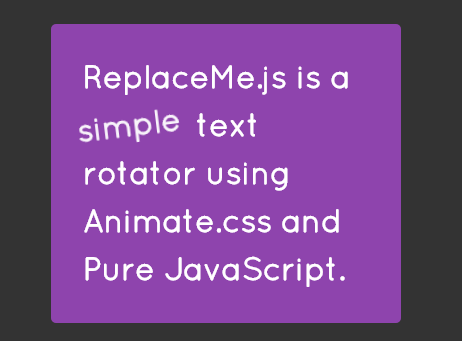 Rotating Text With Animate.css And Pure JavaScript – ReplaceMe.js