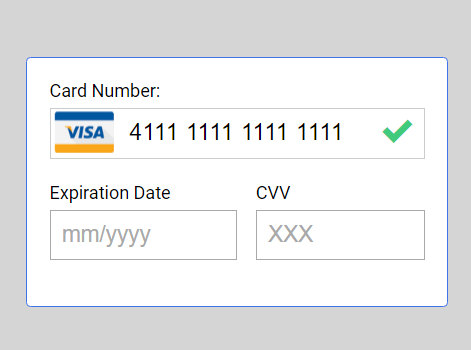 Minimal Credit Card Input Validation Library