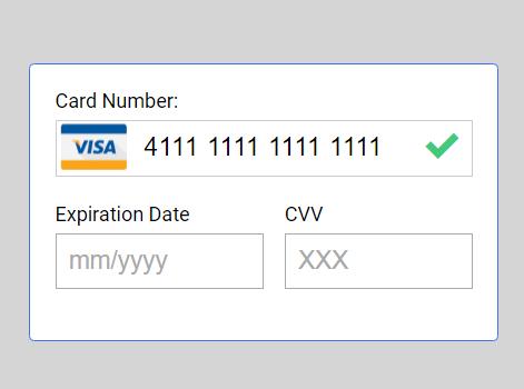 Minimal Credit Card Input Validation Library