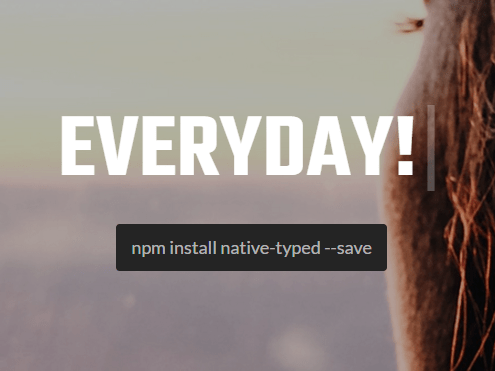Text Typing / Deleting Animations In Native JavaScript – Native Typed