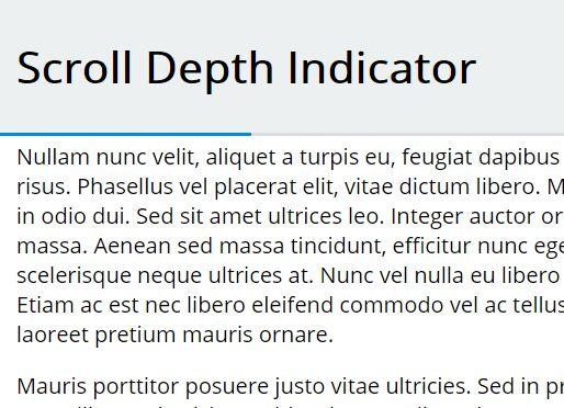 Pure CSS Scroll Depth Indicator