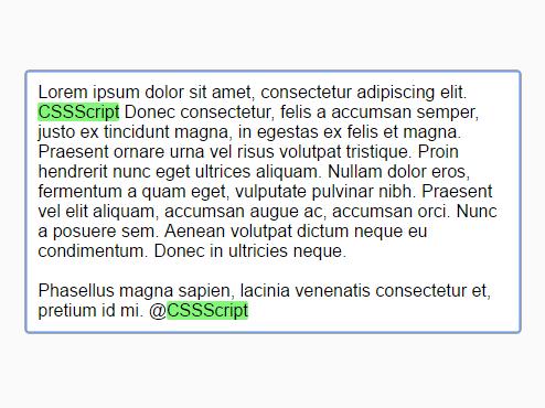 Highlighting Text In Textarea – highlight-ta.js