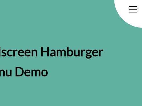 Morphing Fullscreen Hamburger Menu With Pure HTML/CSS